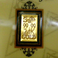 ACB GOLD 5GRAIN 24K SOLID GOLD BULLION MINTED BAR 99.99 FINE With CERTIFICATE. +