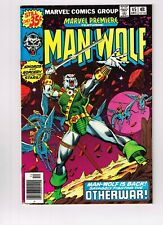 MARVEL PREMIERE 45 featuring MAN-WOLF origin of MAN-WOLF awesome shape marvel