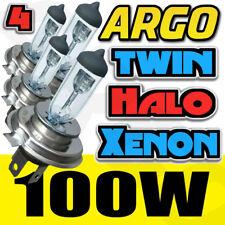 4x H4 100w Xenon Clear Headlight Bulbs 8500k Super High Power Bright Colour