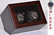 Luxury Display Dual Automatic Watch Winder- model: Vista-02WM Matt Silk Walnut