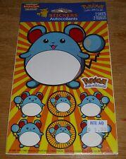 American Greetings Stickers Nintendo Pokemon Marill Mouse NIP Free Ship Over $15