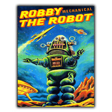 METAL SIGN WALL PLAQUE ROBBY THE ROBOT MECHANICAL Forbidden Planet Movie Film
