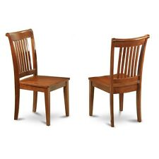 Portland slat back dining room chair with wood seat, Set of 2 NEW