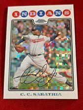 2008 Topps Chrome X-Fractors Cleveland Indians Baseball Card #75 C.C. Sabathia