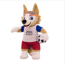 2018 Russie Coupe du Monde de la FIFA Mascotte Zabivaka Wolf Peluche Souvenir 18