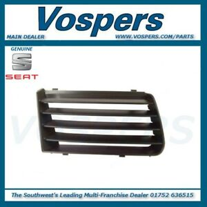 Genuine Seat Alhambra 2001-2010 Front Right Hand / Off Side Upper Bumper Grille