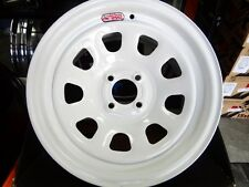 15X8 WHITE DIAMOND RACING WHEELS RIMS WITH LUG NUT KIT  JDM STYLE EF EG EK MIATA