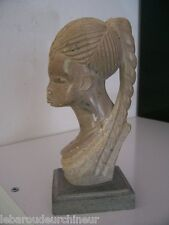 Petit buste en pierre du gabon african art africain africa arte tribal art