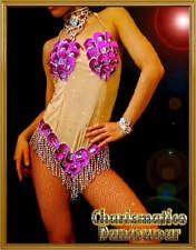PINK SAMBA CARNIVAL showgirl Sequin Bodysuit DIVA Dress