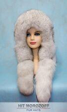 FOX MINK Reversible Fur Hat Eskimo White Schapka Pelz Fellmütze Fuchs Nerz Mütze