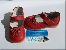 Girls Red Leather Shoes for Toddler Kids Children for age 1 - 5 years