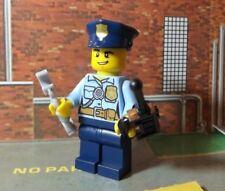 Poliziotto con walkie-talkie-Nuovo-LEGO CITY - - REF13-MINI FIGURA