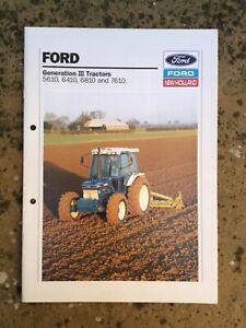 FORD 10 SERIES RANGE TRACTOR BROCHURE GEN 3  90s FARM MODELS SUPER Q CAB