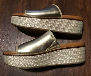 FITFLOP Womens Eloise Platforms Sandals Liquid Size 11 US