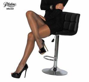 Glossy Shiny Sheer to Waist Pantyhose Nacar Nude 15 Denier Gloss Tights