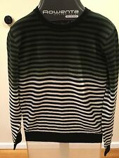 New Men's Izzue Green Striped Lambswool Sweater (From Japan) Size Medium