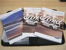 FORD FIESTA OWNERS HANDBOOK  2016-2018 OWNERS MANUAL INC SERVICE BOOK , W7