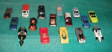 Hot Wheels 1980s Lot of 16 Vintage Vehicles & Showcase Storage Display Case