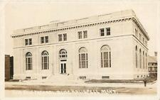 RPPC KALISPELL MT New Federal Building Montana Real Photo Postcard ca 1920s