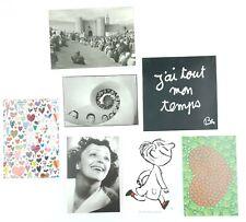 Lot de 7 cartes postales / affichettes