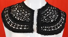 Victorian Antique Passementerie Soutache Black Braided Cording Collar Dress Trim
