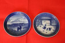 1968 and 1969  ROYAL COPENHAGEN  Christmas Plates, 2 piece lot
