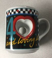 "New ""40 And Loving It!"" Heart Hole Mug 40th Birthday Present"