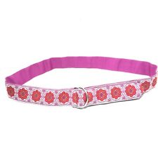 Women's Vintage Inspired Pink Flower Power Double Ring Belt SZ Small/Medium