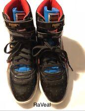 Puma Sky ii High Mens US Size 6 1/2 Patent Leather Black