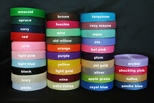 "WHOLESALE Grosgrain ribbon 3/8 "" (inch wide) grosgrain 5 yards you pick colors"
