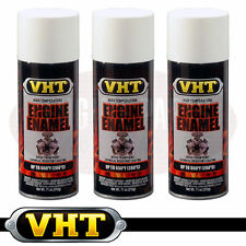 VHT High Temperature Spray Paint ENGINE ENAMEL Gloss White SP129 3 X CANS