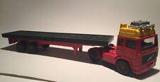 VINTAGE 1980 S CORGI VOLVO Pianale Rosso Giallo Nero AUTOCARRO 20 cm