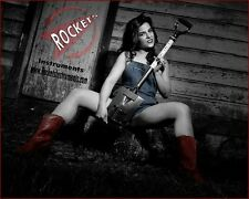 3 STRING SHOVEL GUITAR,  Electric guitar by Rockets Instruments