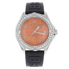 Analoge Breitling Armbanduhren aus Silikon -/Gummi-Armband für Herren