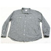 Old Navy Slim Fit Gray Two Pocket Dress Shirt Cotton Long Sleeve Solid XXL 1-31