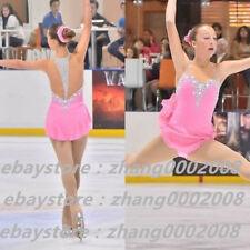 Ice skating dress. Pink Competition Figure Skating dress. Baton Twirling Costume