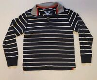 Vtg Tommy Hilfiger Long Sleeve Polo Youth Large 16/18 Zip Collar Navy