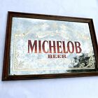 "Vintage Anheuser-Busch Michelob Beer Since 1896 Framed Mirror Sign 18""x26"""