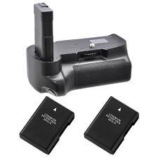 Pro Series Battery Grip for Nikon D3200/D3300/D3400 + 2x EN-EL14 Li-Ion Batt