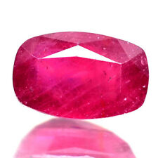 4.13 Cts Natural Pink MADAGASCAR RUBY GLASS FILLED Cushion for Jewelry Setting