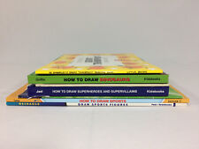 Lot of 7 HOW TO DRAW Books Animals Sports Dinosaurs Pokemon FREE SHIPPING
