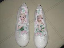 disney frozen white  girls shoes