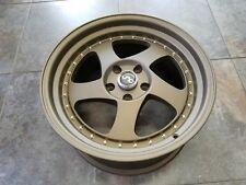 "18"" Wheels JNC034 18x9 5x114.3 +30 Matte Bronze with Gold Rivets JNC Rims"