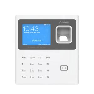 Fingerprint Zeiterfassung Stempeluhr Fingerabdruck Stechuhr Scanner WIFI B- Ware