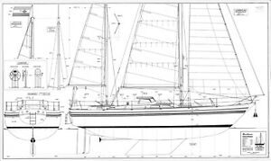 ST. MALO, Ketsch, type Contest 42. Modellbauplan
