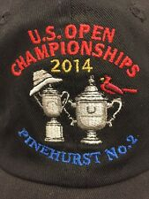 U.S. Open Championships Black Adjustable Hat 2014 Pinehurst No. 2 USGA