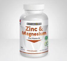 Vitamin B6 Magnesium Zinc Supplement 180 Vegetarian Tablets Made UK Futurevits