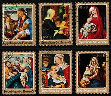 BURUNDI 'Christmas Religious Paintings' Series Stamp set of 6, issued 1970 -Used
