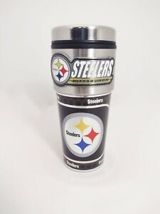 Pittsburgh Steelers 16 oz Travel Tumbler - Coffee Mug