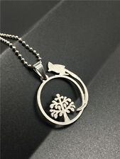 NEW Fashion Lucky Tree Silver 316L Stainless Steel Titanium Pendant Necklace